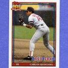 1991 Topps Baseball #206 Carlos Quintana - Boston Red Sox