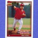1991 Topps Baseball #205 Mike Perez RC - St. Louis Cardinals