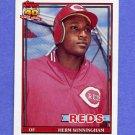 1991 Topps Baseball #204 Herm Winningham - Cincinnati Reds