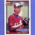 1991 Topps Baseball #197 Chris Nabholz - Montreal Expos