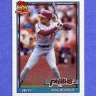 1991 Topps Baseball #186 Rod Booker - Philadelphia Phillies