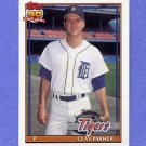 1991 Topps Baseball #183 Clay Parker - Detroit Tigers