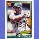 1991 Topps Baseball #144 Dave Henderson - Oakland A's NM-M
