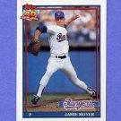 1991 Topps Baseball #138 Jamie Moyer - Texas Rangers