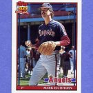 1991 Topps Baseball #129 Mark Eichhorn - California Angels