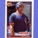 1991 Topps Baseball #117 Dion James - Cleveland Indians