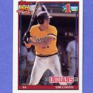 1991 Topps Baseball #103 Tim Costo RC - Cleveland Indians