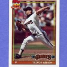 1991 Topps Baseball #096 Trevor Wilson - San Francisco Giants