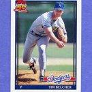 1991 Topps Baseball #025 Tim Belcher - Los Angeles Dodgers