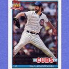 1991 Topps Baseball #012 Paul Assenmacher - Chicago Cubs