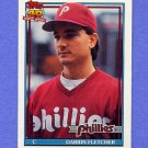 1991 Topps Baseball #009 Darrin Fletcher - Philadelphia Phillies