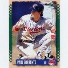 1995 Score Baseball #396 Paul Sorrento - Cleveland Indians