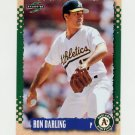 1995 Score Baseball #381 Ron Darling - Oakland A's