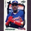 1995 Score Baseball #295 Jose Oliva - Atlanta Braves