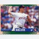 1995 Score Baseball #225 Mark Leiter - California Angels