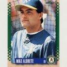1995 Score Baseball #192 Mike Aldrete - Oakland A's