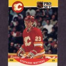 1990-91 Pro Set Hockey #593 Stephane Matteau RC - Calgary Flames