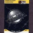 1990-91 Pro Set Hockey #584 Vancouver Canucks Logo