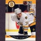 1990-91 Pro Set Hockey #005 John Carter RC - Boston Bruins