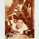 1991-92 Pro Set French Hockey #343 Terry Sawchuk HC - Detroit Red Wings