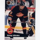 1991-92 Pro Set French Hockey #243 Greg Adams - Vancouver Canucks