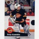 1991-92 Pro Set French Hockey #238 Troy Gamble - Vancouver Canucks