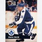 1991-92 Pro Set French Hockey #229 Dave Reid - Toronto Maple Leafs