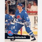 1991-92 Pro Set French Hockey #206 Randy Velischek - Quebec Nordiques