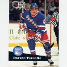 1991-92 Pro Set French Hockey #160 Darren Turcotte - New York Rangers