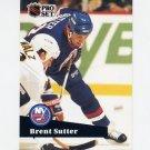 1991-92 Pro Set French Hockey #154 Brent Sutter - New York Islanders
