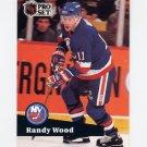 1991-92 Pro Set French Hockey #151 Randy Wood - New York Islanders