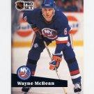 1991-92 Pro Set French Hockey #144 Wayne McBean - New York Islanders