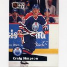 1991-92 Pro Set French Hockey #069 Craig Simpson - Edmonton Oilers