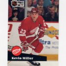 1991-92 Pro Set French Hockey #060 Kevin Miller - Detroit Red Wings