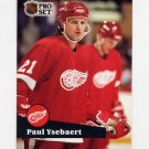 1991-92 Pro Set French Hockey #059 Paul Ysebaert - Detroit Red Wings