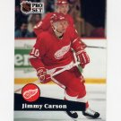 1991-92 Pro Set French Hockey #055 Jimmy Carson - Detroit Red Wings