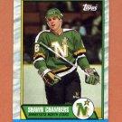 1989-90 Topps Hockey #142 Shawn Chambers RC - Minnesota North Stars