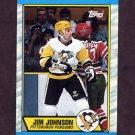 1989-90 Topps Hockey #077 Jim Johnson - Pittsburgh Penguins