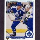 1990-91 Upper Deck Hockey #396 Lou Franceschetti RC - Toronto Maple Leafs NM-M