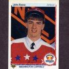 1990-91 Upper Deck Hockey #360 John Slaney RC - Washington Capitals