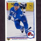 1990-91 Upper Deck Hockey #338 Claude Loiselle RC - Quebec Nordiques