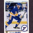 1990-91 Upper Deck Hockey #330 Paul MacLean - St. Louis Blues