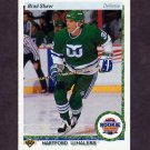 1990-91 Upper Deck Hockey #327 Brad Shaw ART - Hartford Whalers