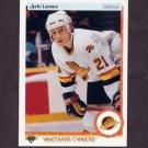 1990-91 Upper Deck Hockey #297 Jyrki Lumme RC - Vancouver Canucks