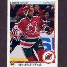 1990-91 Upper Deck Hockey #250 Claude Vilgrain RC - New Jersey Devils