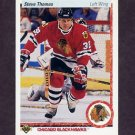 1990-91 Upper Deck Hockey #221 Steve Thomas - Chicago Blackhawks
