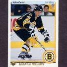 1990-91 Upper Deck Hockey #211 John Carter - Boston Bruins