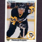 1990-91 Upper Deck Hockey #142 Rob Brown - Pittsburgh Penguins