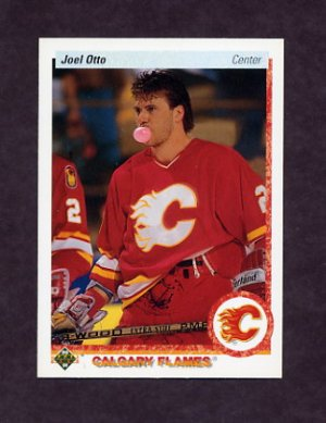 1990 91 Upper Deck Hockey 141 Joel Otto Calgary Flames