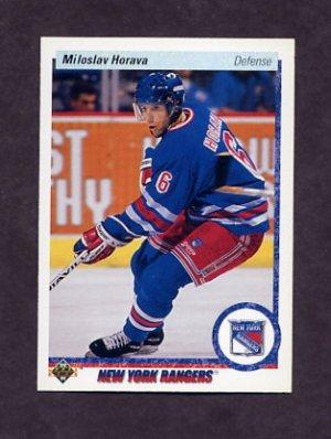 1990-91 Upper Deck Hockey #013 Miloslav Horava RC - New York Rangers